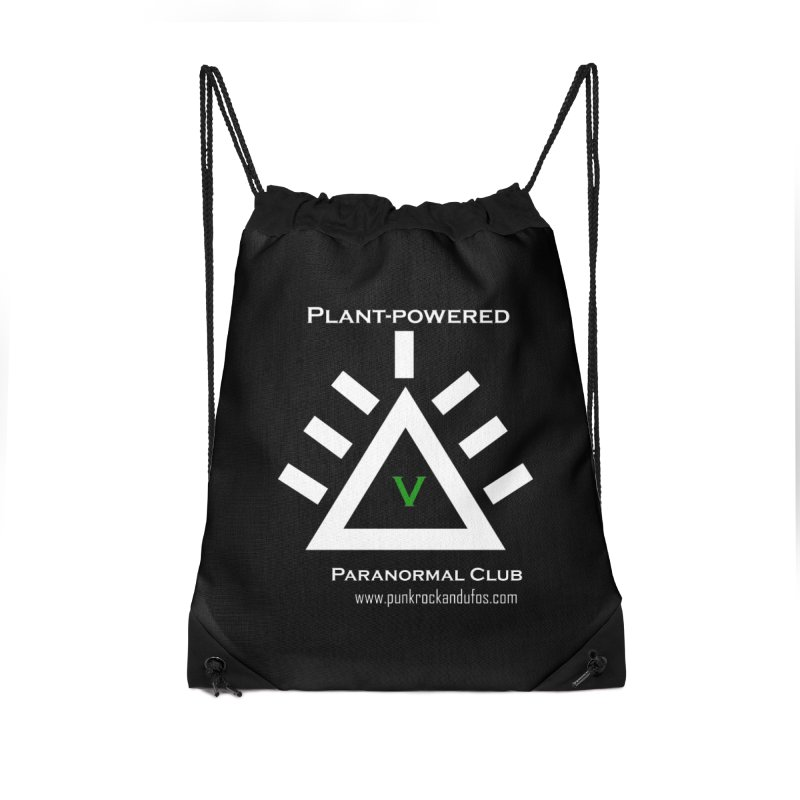 Plant-Powered Paranormal Club Accessories Drawstring Bag Bag by punkrockandufos's Artist Shop