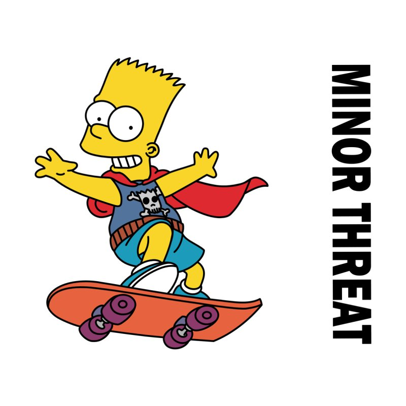 MinorThreatBart Accessories Skateboard by punkrockandufos's Artist Shop