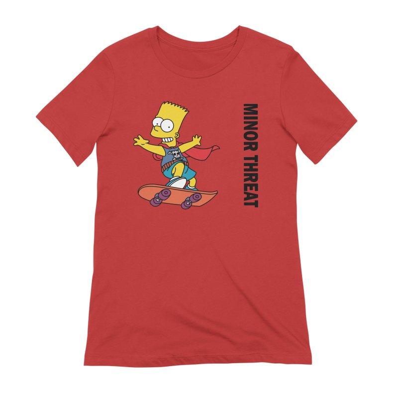 MinorThreatBart Women's Extra Soft T-Shirt by punkrockandufos's Artist Shop