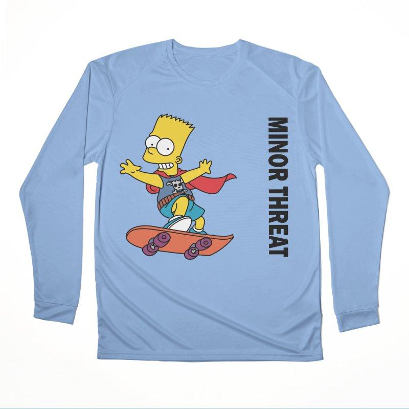 MinorThreatBart Men's Performance Longsleeve T-Shirt by punkrockandufos's Artist Shop