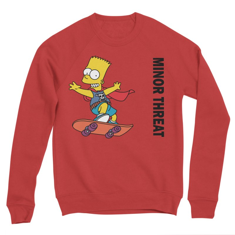 MinorThreatBart Men's Sponge Fleece Sweatshirt by punkrockandufos's Artist Shop