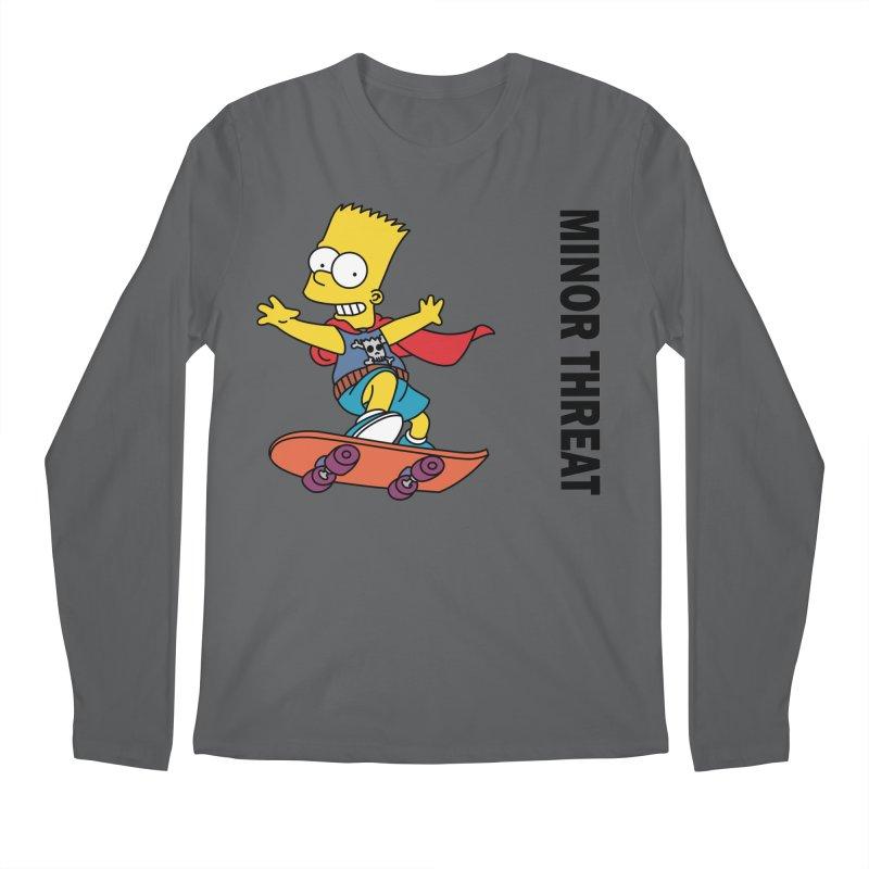 MinorThreatBart Men's Longsleeve T-Shirt by punkrockandufos's Artist Shop