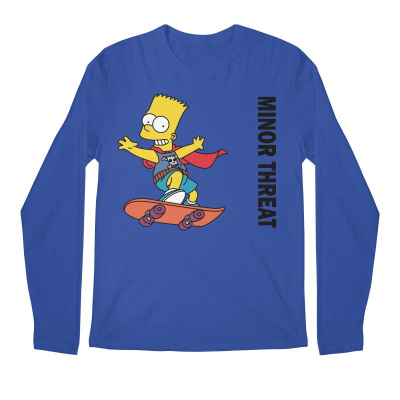 MinorThreatBart Men's Regular Longsleeve T-Shirt by punkrockandufos's Artist Shop