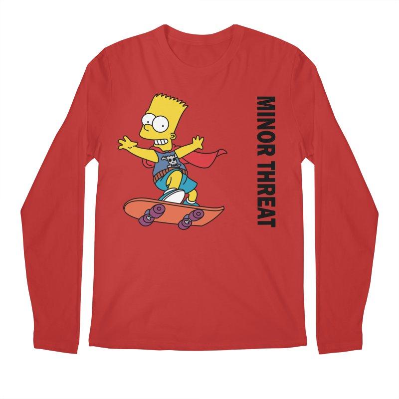 MinorThreatBart Men's Regular Longsleeve T-Shirt by punkrockandufos's Artist Shop
