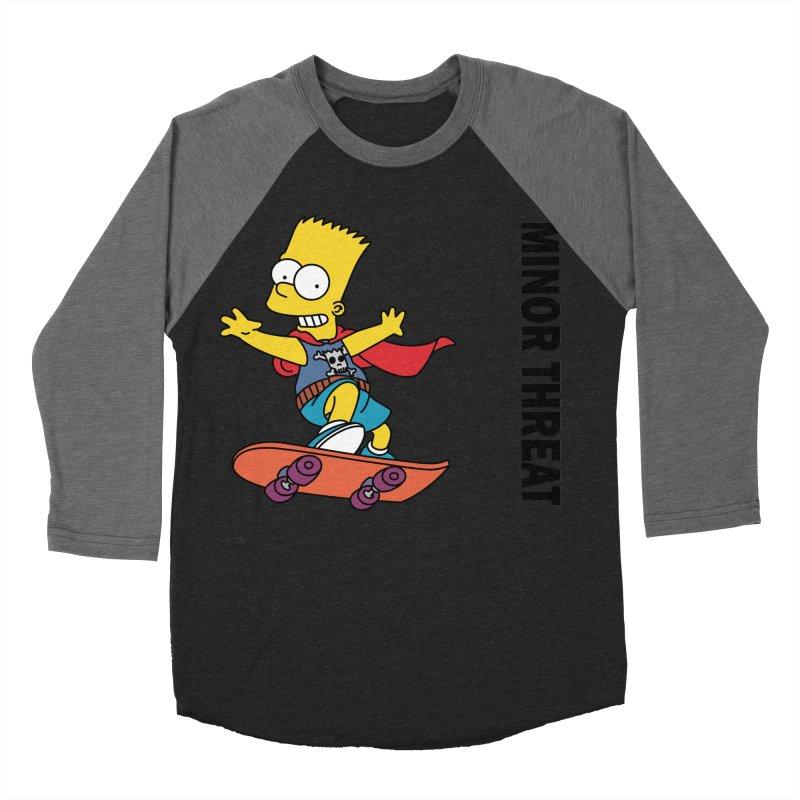MinorThreatBart Women's Baseball Triblend Longsleeve T-Shirt by punkrockandufos's Artist Shop