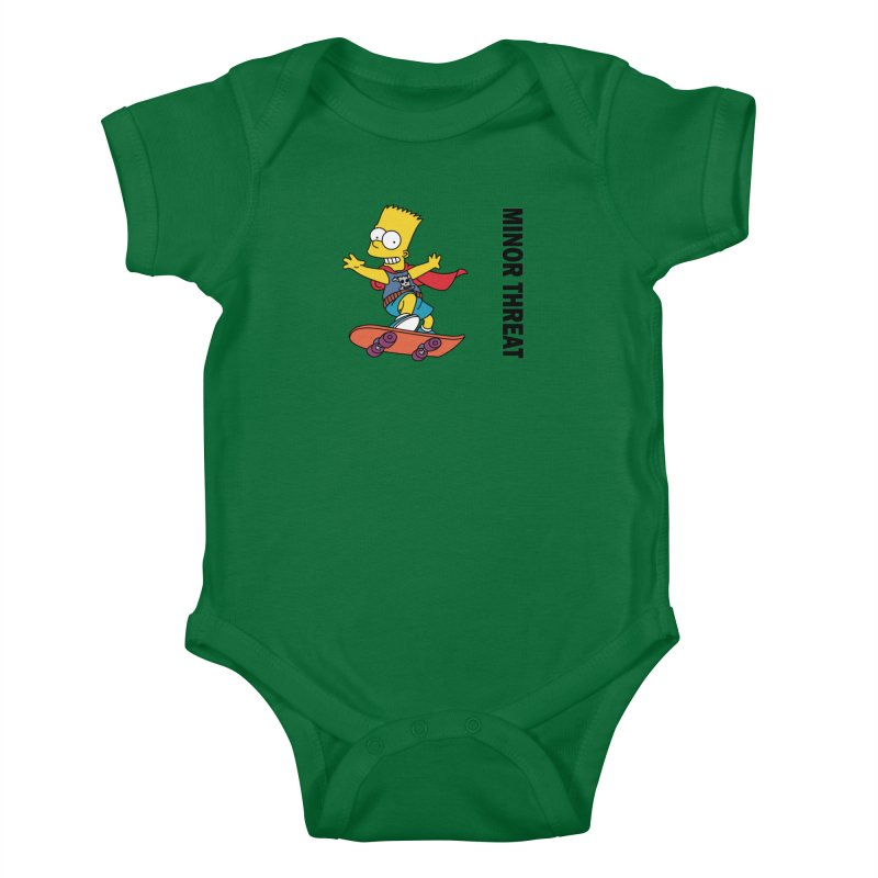 MinorThreatBart Kids Baby Bodysuit by punkrockandufos's Artist Shop