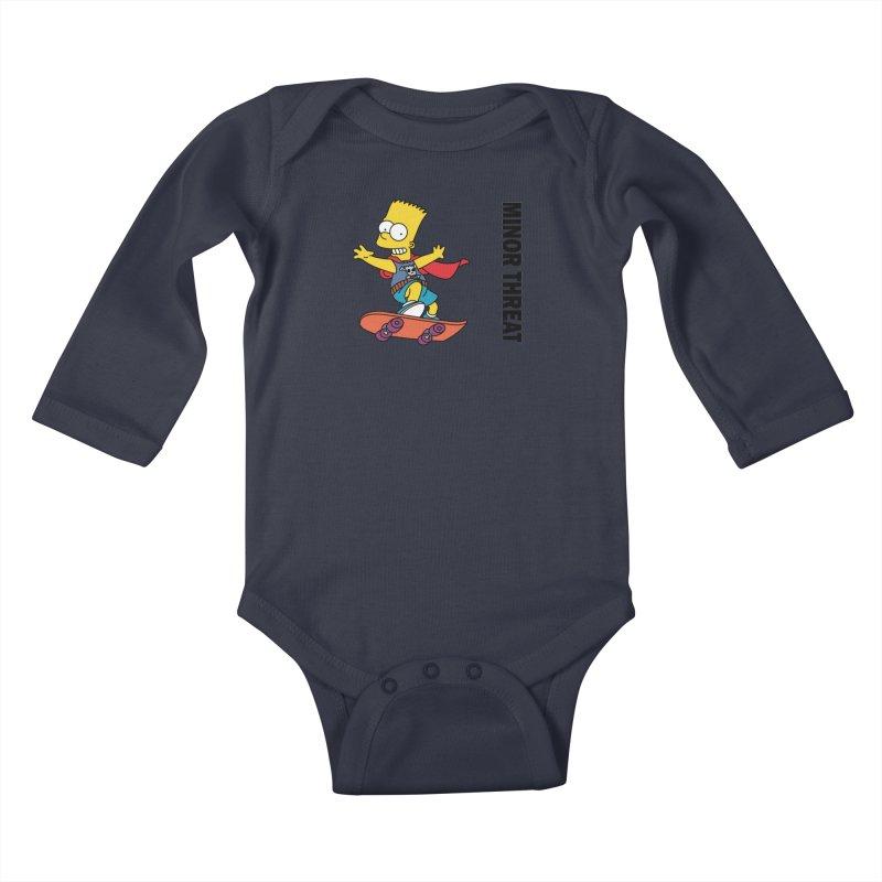 MinorThreatBart Kids Baby Longsleeve Bodysuit by punkrockandufos's Artist Shop