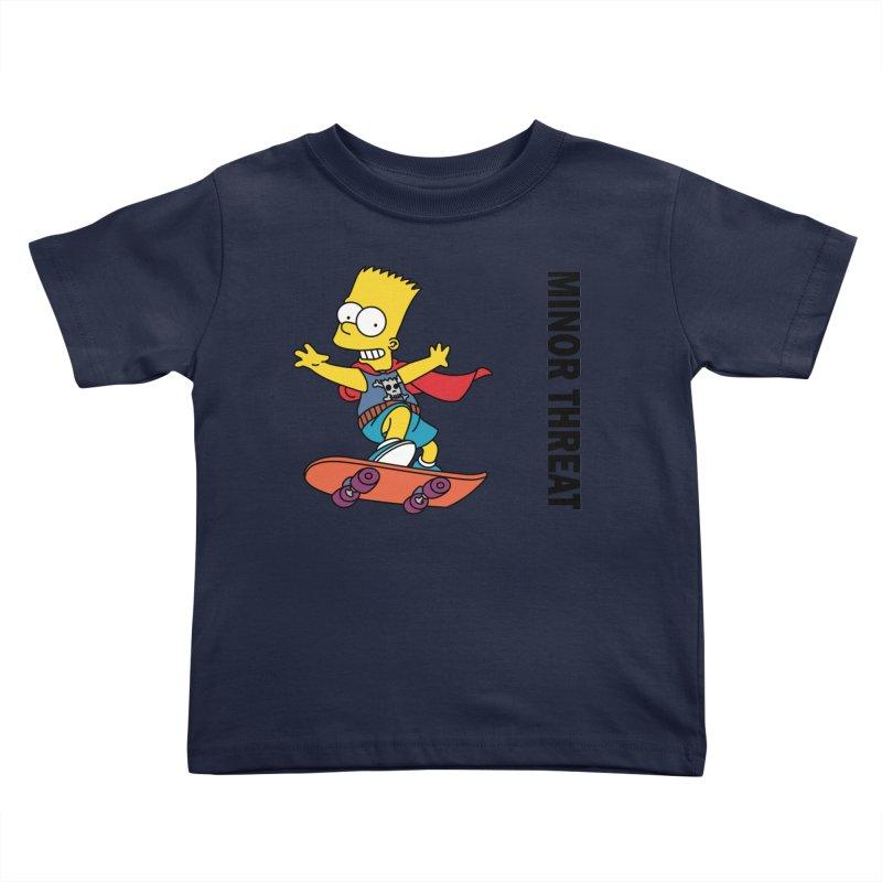 MinorThreatBart Kids Toddler T-Shirt by punkrockandufos's Artist Shop