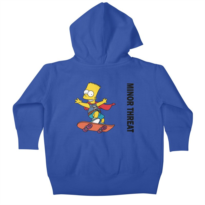 MinorThreatBart Kids Baby Zip-Up Hoody by punkrockandufos's Artist Shop