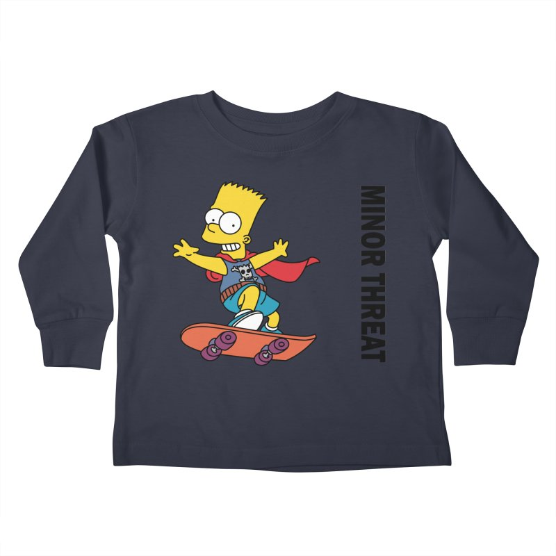 MinorThreatBart Kids Toddler Longsleeve T-Shirt by punkrockandufos's Artist Shop
