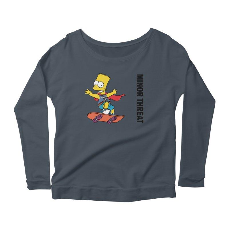 MinorThreatBart Women's Scoop Neck Longsleeve T-Shirt by punkrockandufos's Artist Shop