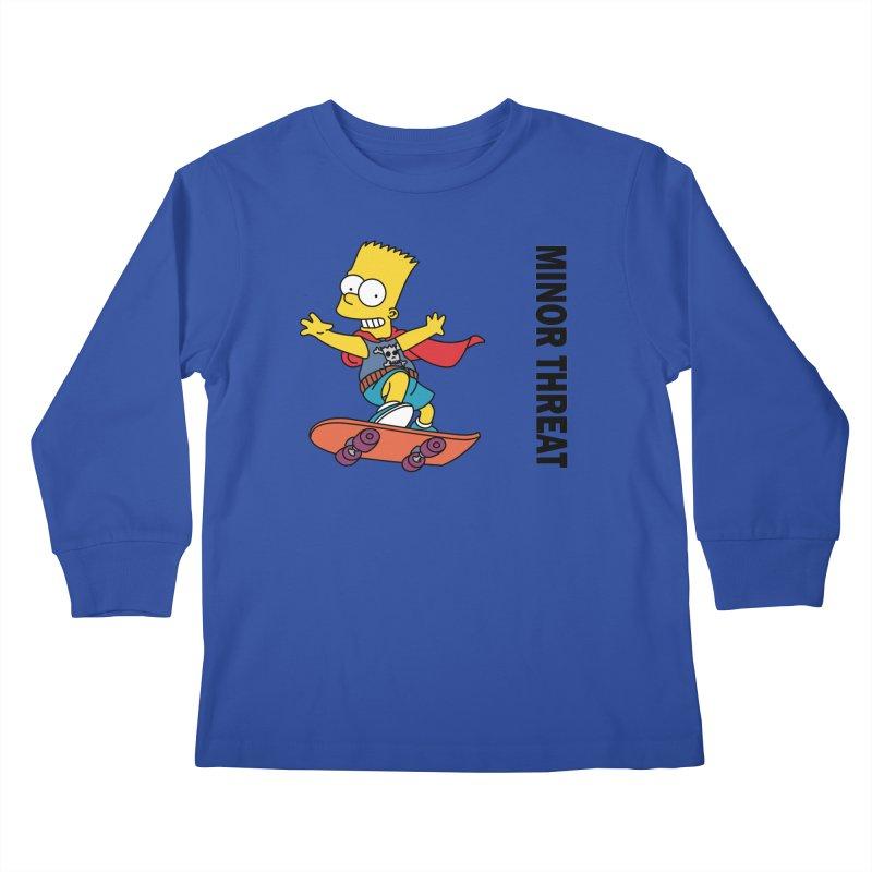MinorThreatBart Kids Longsleeve T-Shirt by punkrockandufos's Artist Shop