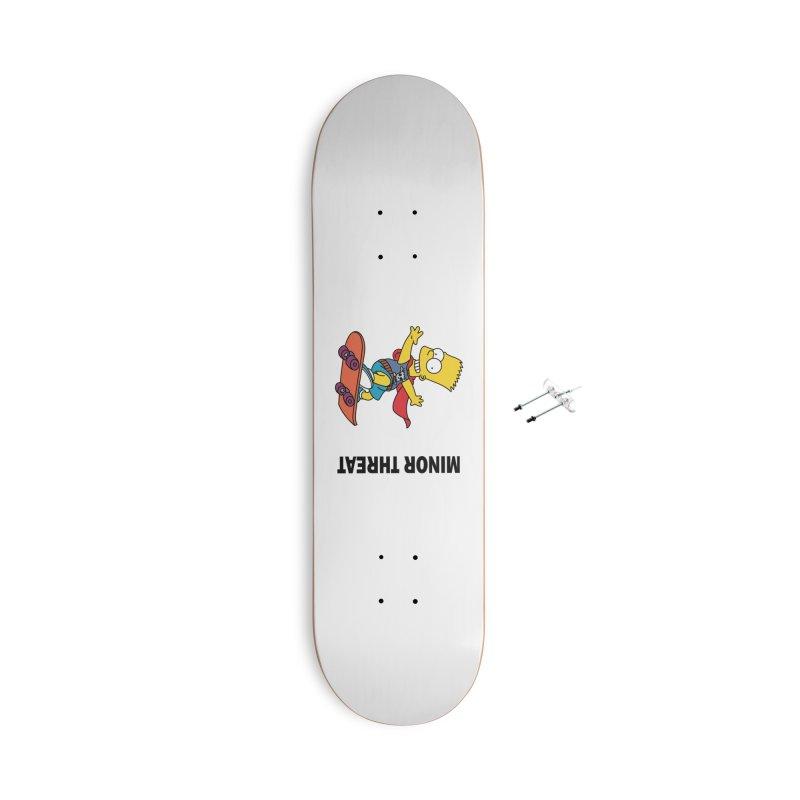 MinorThreatBart Accessories With Hanging Hardware Skateboard by punkrockandufos's Artist Shop