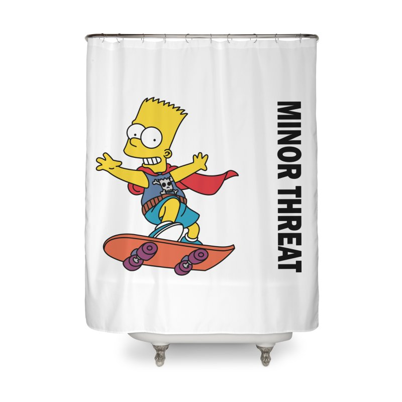 MinorThreatBart Home Shower Curtain by punkrockandufos's Artist Shop