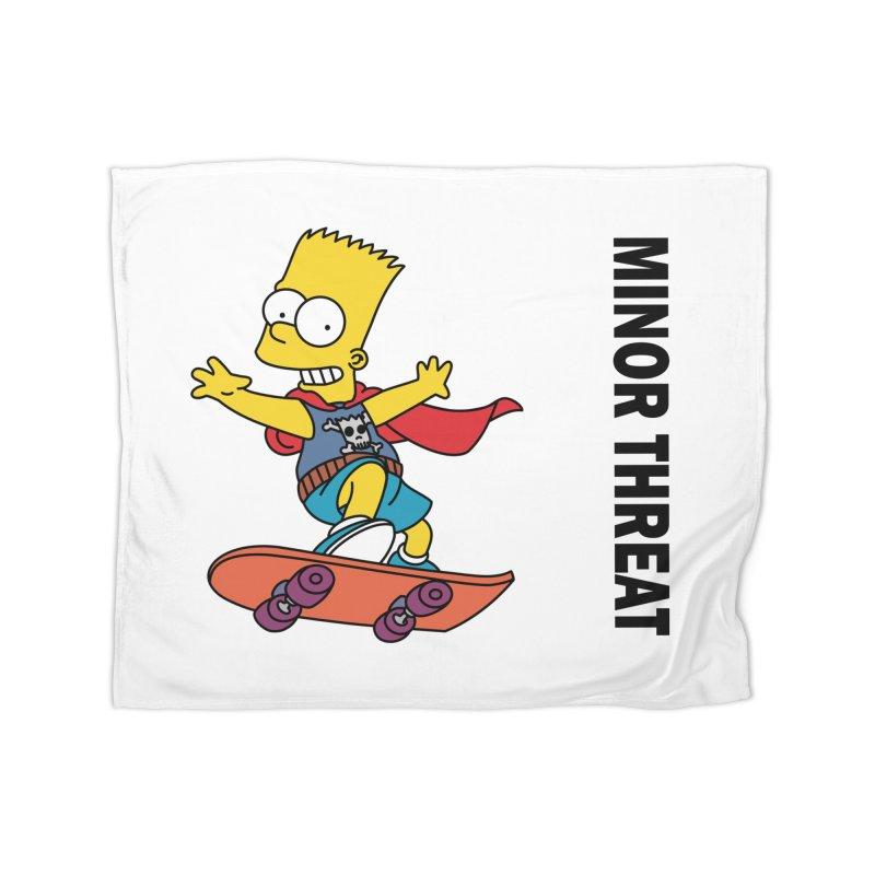 MinorThreatBart Home Fleece Blanket Blanket by punkrockandufos's Artist Shop