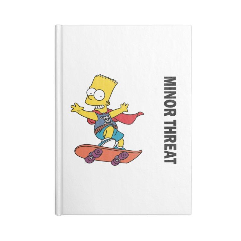 MinorThreatBart Accessories Lined Journal Notebook by punkrockandufos's Artist Shop