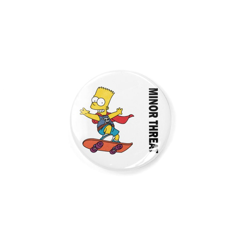 MinorThreatBart Accessories Button by punkrockandufos's Artist Shop