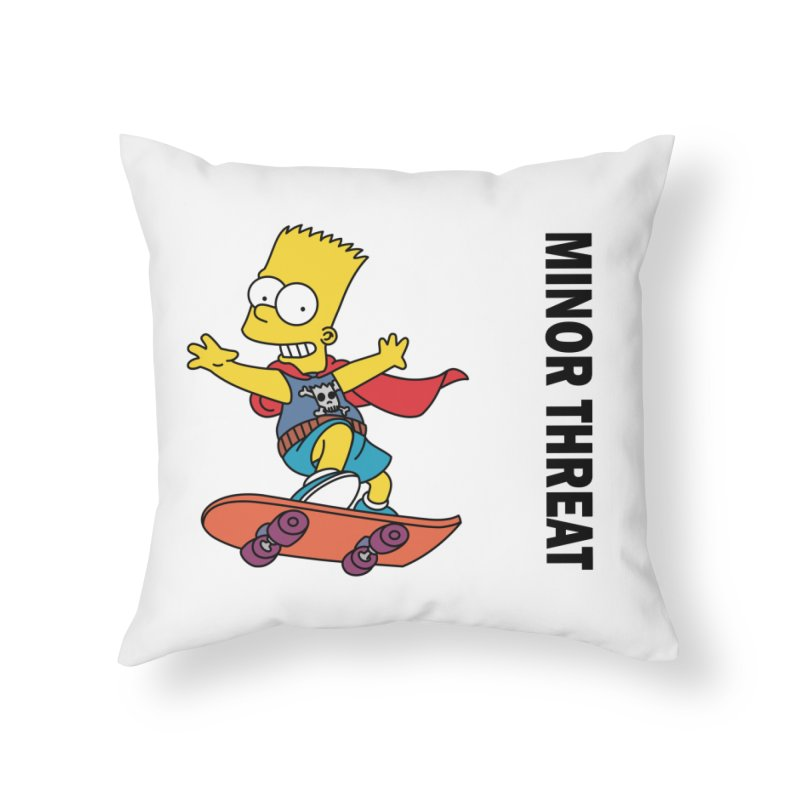 MinorThreatBart Home Throw Pillow by punkrockandufos's Artist Shop