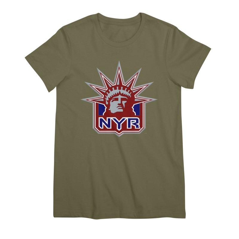 NYRetro Women's Premium T-Shirt by punkrockandufos's Artist Shop
