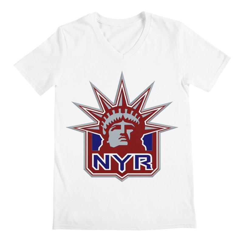 NYRetro Men's Regular V-Neck by punkrockandufos's Artist Shop