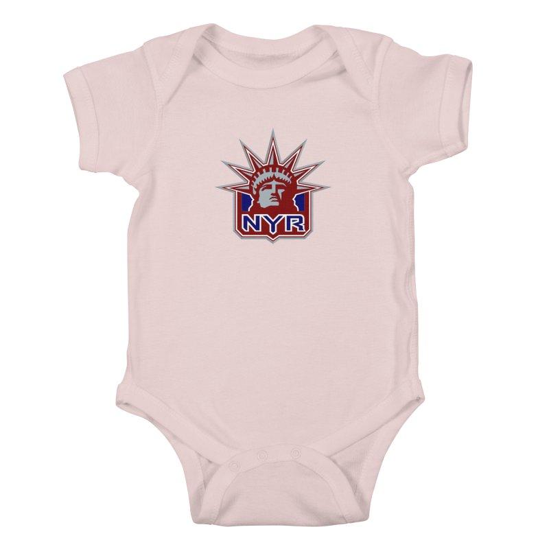 NYRetro Kids Baby Bodysuit by punkrockandufos's Artist Shop