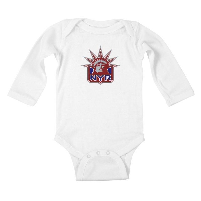 NYRetro Kids Baby Longsleeve Bodysuit by punkrockandufos's Artist Shop
