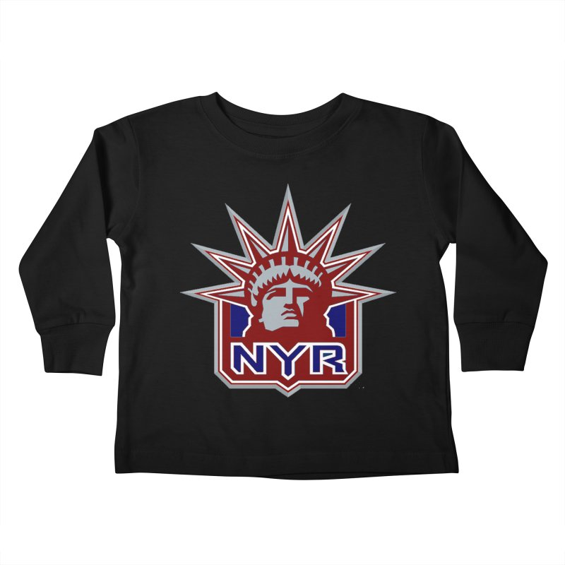 NYRetro Kids Toddler Longsleeve T-Shirt by punkrockandufos's Artist Shop
