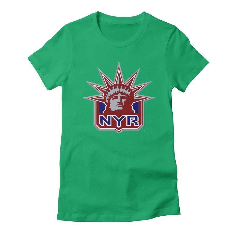 NYRetro Women's Fitted T-Shirt by punkrockandufos's Artist Shop