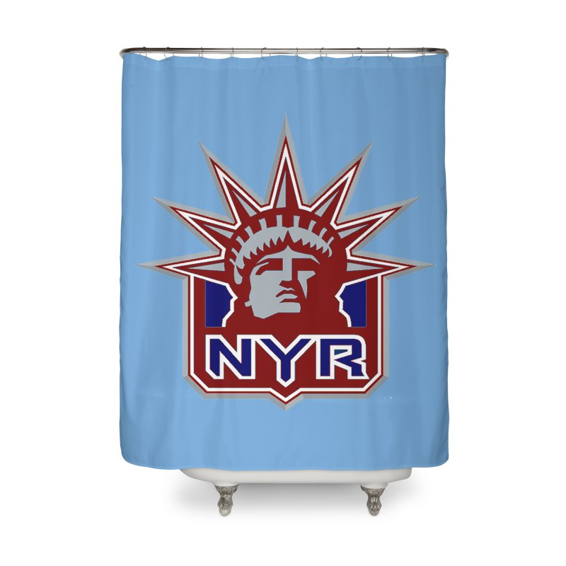 NYRetro Home Shower Curtain by punkrockandufos's Artist Shop