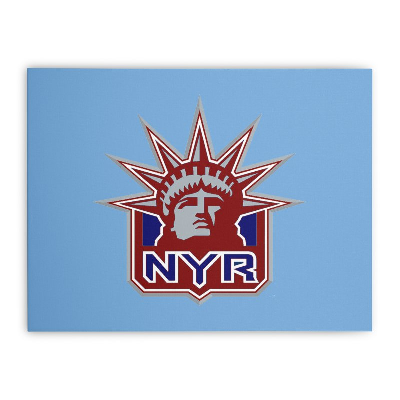 NYRetro Home Stretched Canvas by punkrockandufos's Artist Shop
