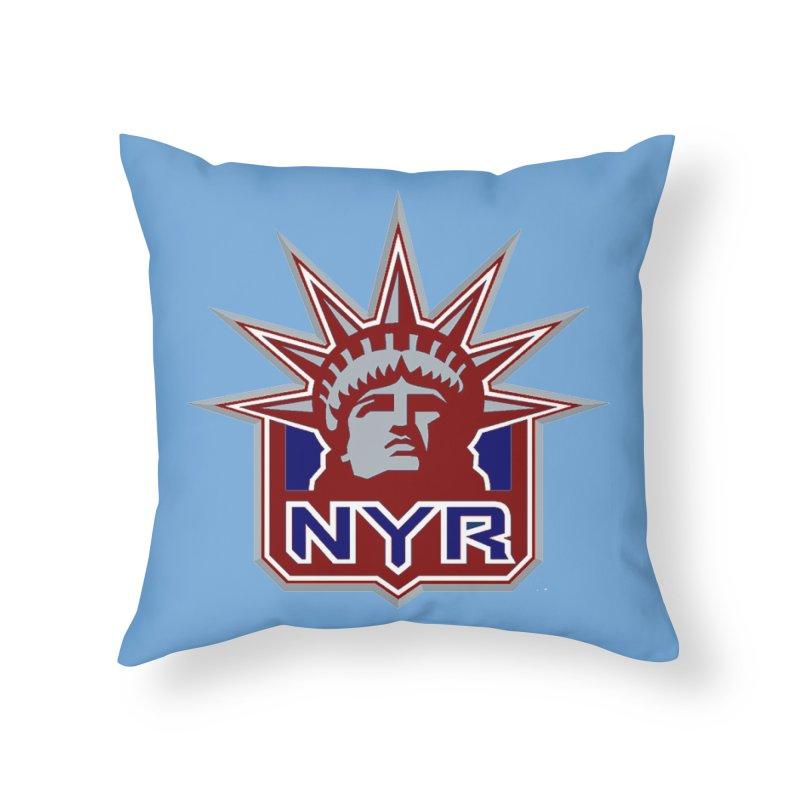 NYRetro Home Throw Pillow by punkrockandufos's Artist Shop