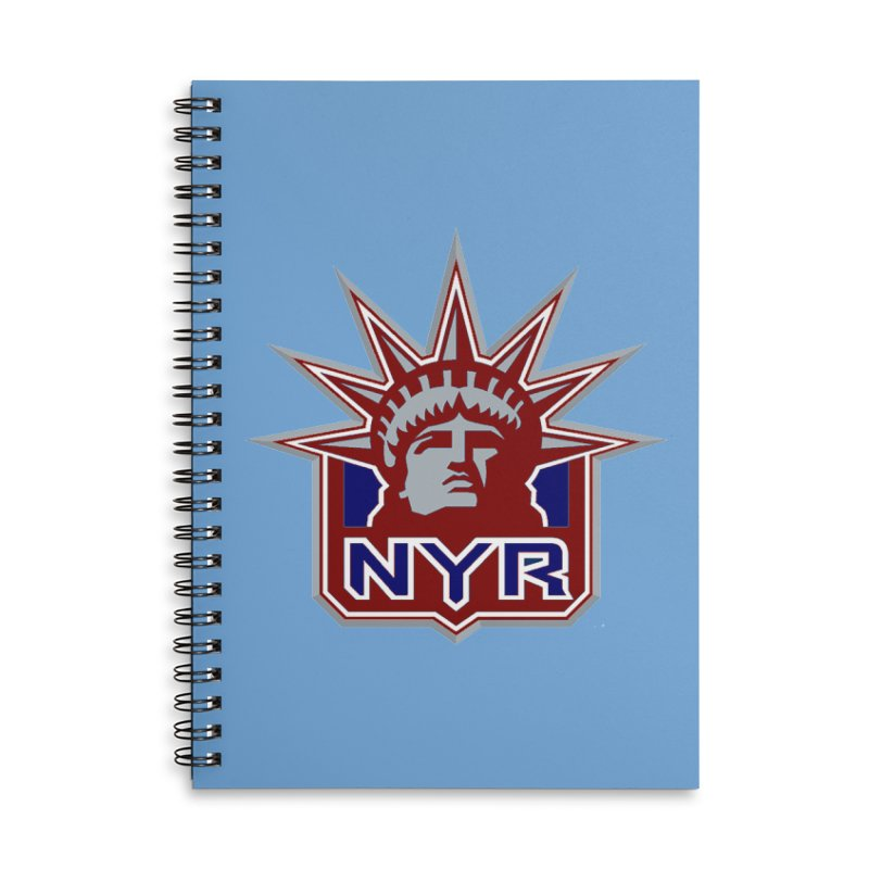 NYRetro Accessories Lined Spiral Notebook by punkrockandufos's Artist Shop