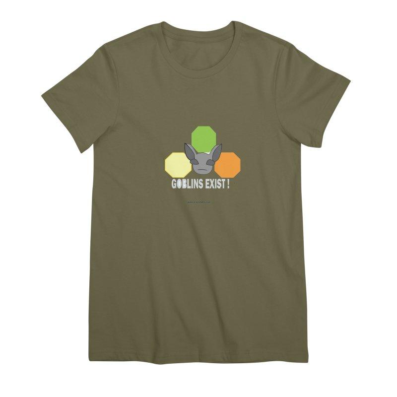 Goblins Exist Women's Premium T-Shirt by punkrockandufos's Artist Shop