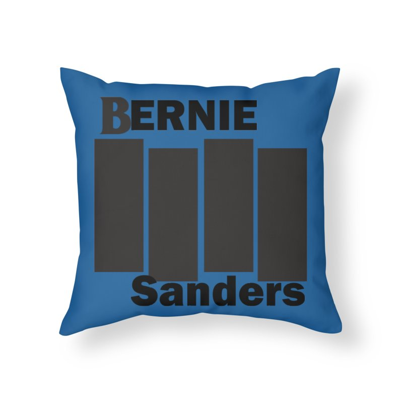 Bernie Flag 2020 Home Throw Pillow by punkrockandufos's Artist Shop