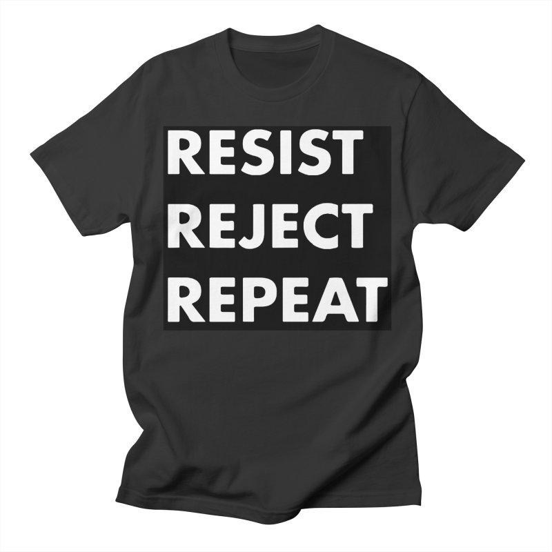 Resist. Reject. Repeat Women's Regular Unisex T-Shirt by punkrockandufos's Artist Shop