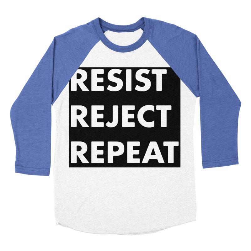 Resist. Reject. Repeat Men's Baseball Triblend Longsleeve T-Shirt by punkrockandufos's Artist Shop
