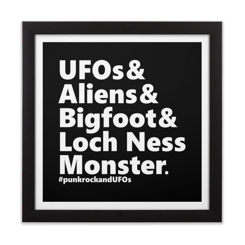 """Punk rock and UFOs """"Family""""  Home Framed Fine Art Print by punkrockandufos's Artist Shop"""