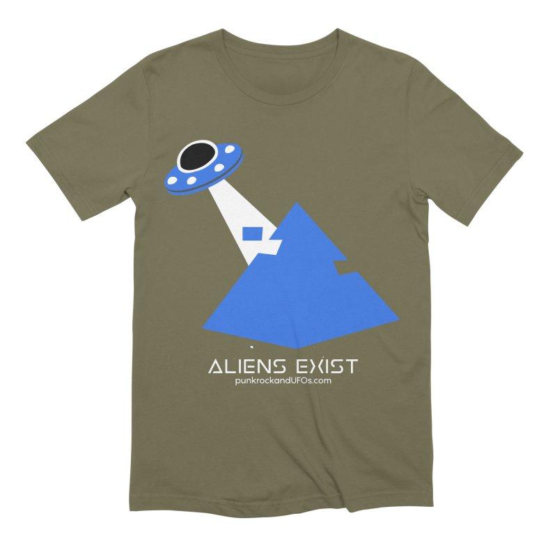 Aliens Exist 2 Men's Extra Soft T-Shirt by punkrockandufos's Artist Shop