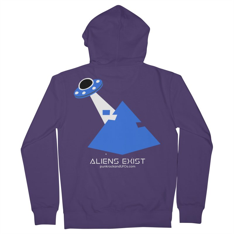 Aliens Exist 2 Women's French Terry Zip-Up Hoody by punkrockandufos's Artist Shop