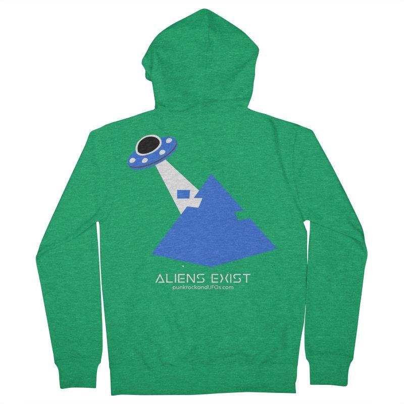 Aliens Exist 2 Men's French Terry Zip-Up Hoody by punkrockandufos's Artist Shop