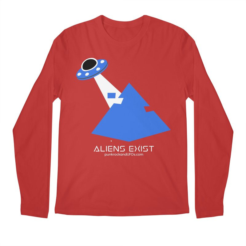 Aliens Exist 2 Men's Regular Longsleeve T-Shirt by punkrockandufos's Artist Shop