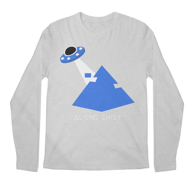 Aliens Exist 2 Men's Regular Longsleeve T-Shirt by punkrockandufos's Artist Shop