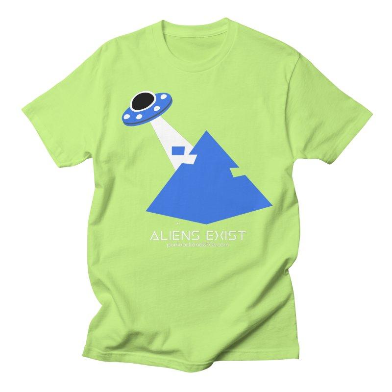 Aliens Exist 2 Men's Regular T-Shirt by punkrockandufos's Artist Shop