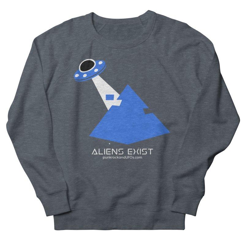 Aliens Exist 2 Men's French Terry Sweatshirt by punkrockandufos's Artist Shop