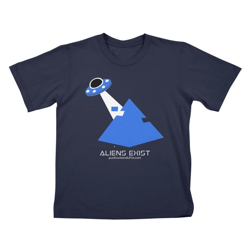 Aliens Exist 2 Kids T-Shirt by punkrockandufos's Artist Shop
