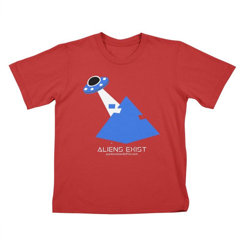 Aliens Exist 2 Kids T-Shirt by punkrockandufos's Artist Shop