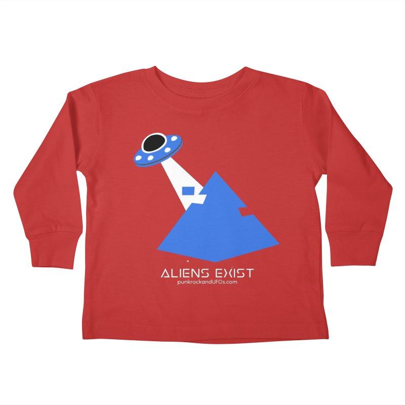 Aliens Exist 2 Kids Toddler Longsleeve T-Shirt by punkrockandufos's Artist Shop