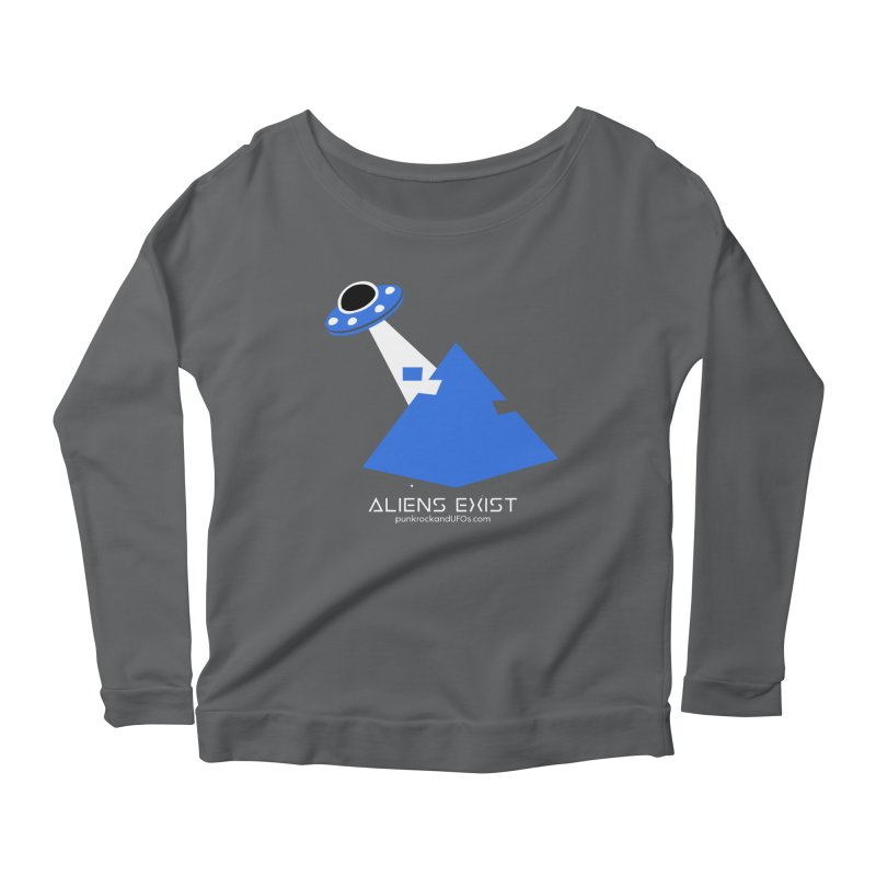 Aliens Exist 2 Women's Scoop Neck Longsleeve T-Shirt by punkrockandufos's Artist Shop