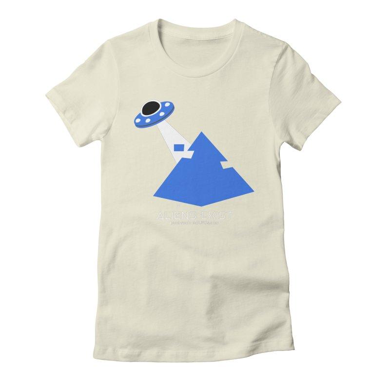 Aliens Exist 2 Women's Fitted T-Shirt by punkrockandufos's Artist Shop