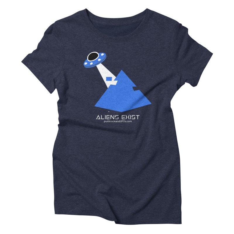 Aliens Exist 2 Women's Triblend T-Shirt by punkrockandufos's Artist Shop